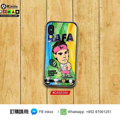#CASE040 拿度金滿貫 NADAL 鋼化玻璃電話套
