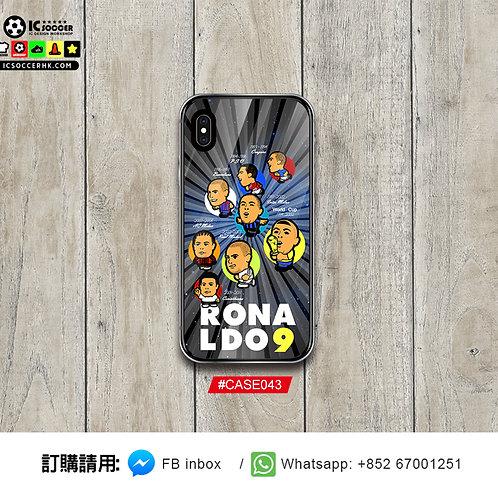 CASE043 大哨 RONALDO 新款鋼化玻璃電話套