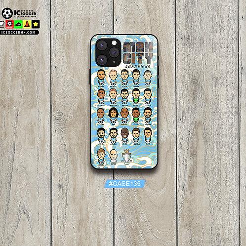 CASE135 曼城冠軍 鋼化玻璃電話套