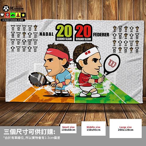 BK042 網球 2020 大滿貫 20冠 超柔軟絨毛毯 FLEECE BLANKET