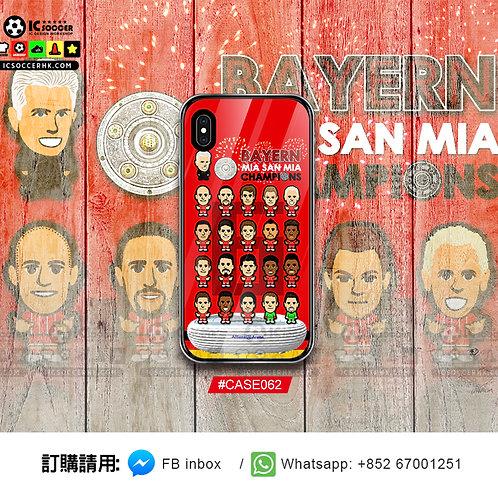 CASE062 拜仁6連冠  鋼化玻璃電話套