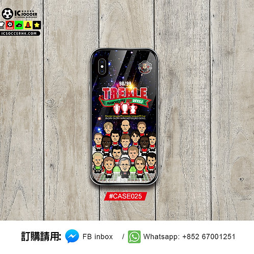 #CASE025 紅魔三冠王 Treble 鋼化玻璃電話套