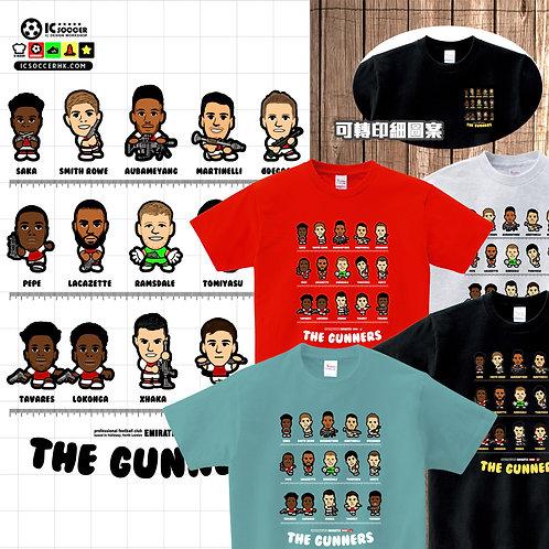 TEE 兵工廠 The Gunners 白灰色 / 黑色 / 紅色 / 青碧色
