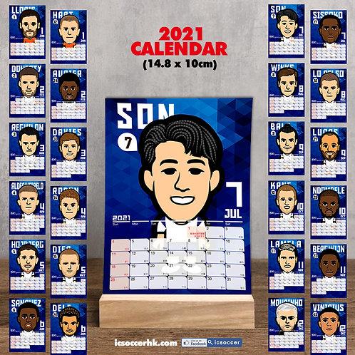 CD009 熱刺 2021年 雙面月曆卡