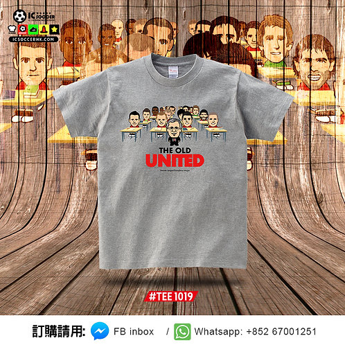 TEE1019 THE OLD UNITED TEE (花灰色)