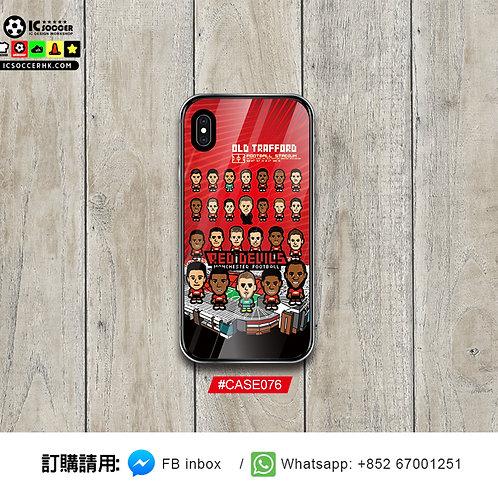 CASE076  紅魔全陣容 鋼化玻璃電話套