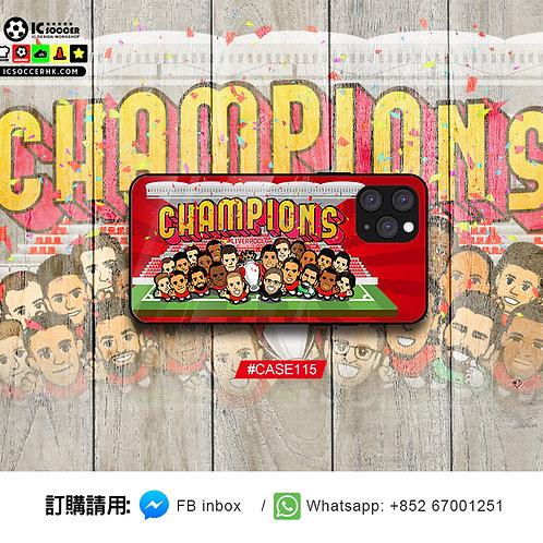 CASE115 利記 CHAMPIOINS  鋼化玻璃電話套