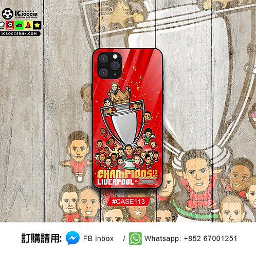 CASE113  利記 英超冠軍 鋼化玻璃電話套