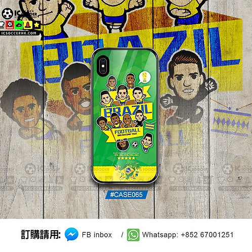 CASE065 巴西 2018 鋼化玻璃電話套