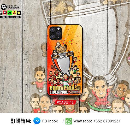 CASE112  利記 英超冠軍 鋼化玻璃電話套