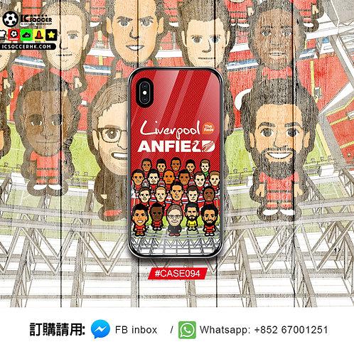 CASE094 利記 FULL TEAM 鋼化玻璃電話套