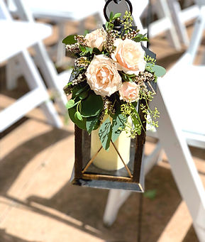 Rental Lantern with fresh flowers