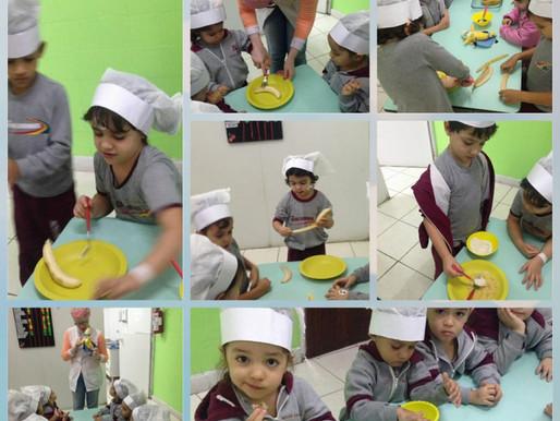 Educação Infantil - Receita de barrinha de aveia e banana