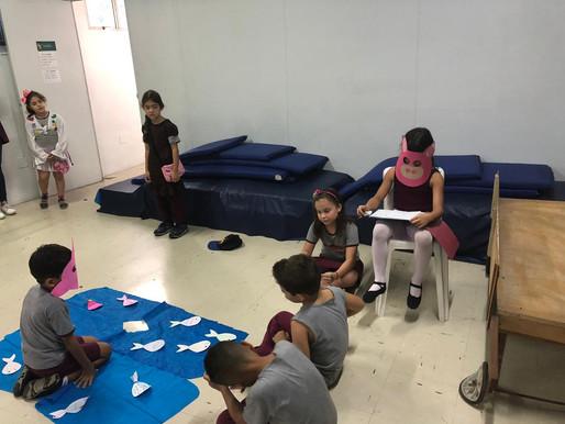 Teatro com a turma do Ensino Fundamental I