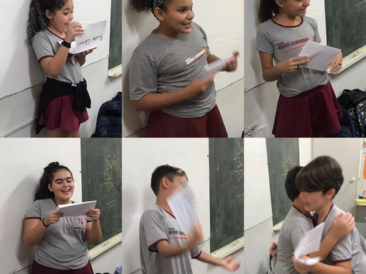 Aula de inglês - troca de cartas