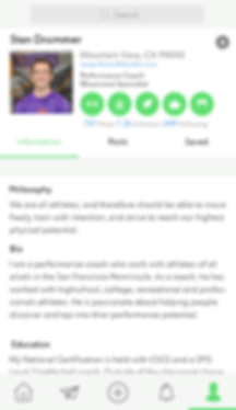 App Professional Profile