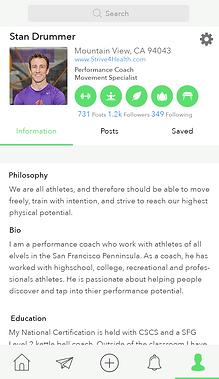 App Professional Profile