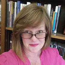 Selfie.PinkBlouse,bookshelf.jpg
