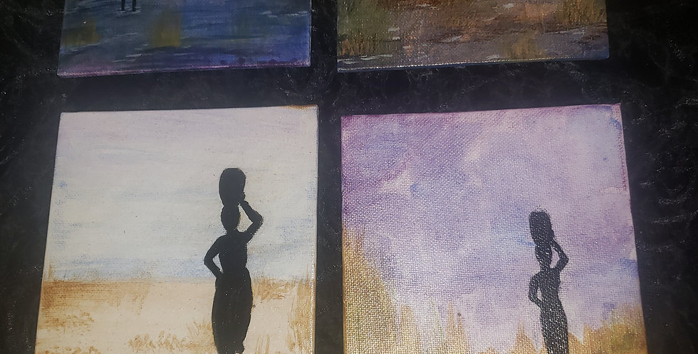 5x7 hand-painted art