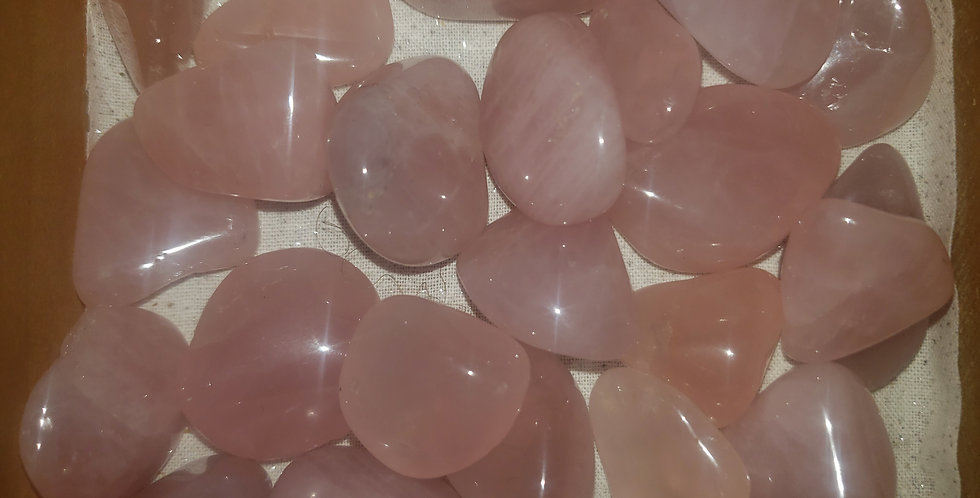 small tumbled rose quartz
