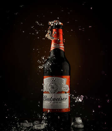 The Clicker Guy - Beverage photography Splash Photography - Budweiser.