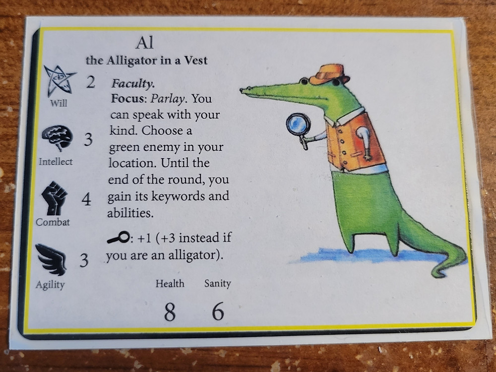 """It's a card called """"Al, the Alligator in a Vest."""""""