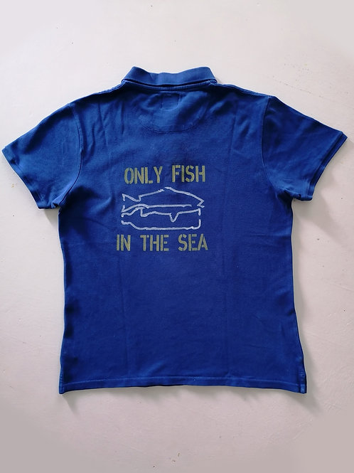 Polo color blue marine M