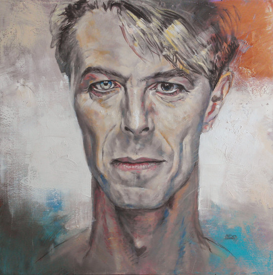 Hero (portrait of David Bowie) 100x100 c