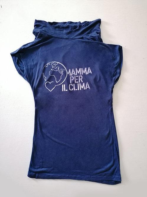 T-shirt Blue navy smanicata collo sciallato M