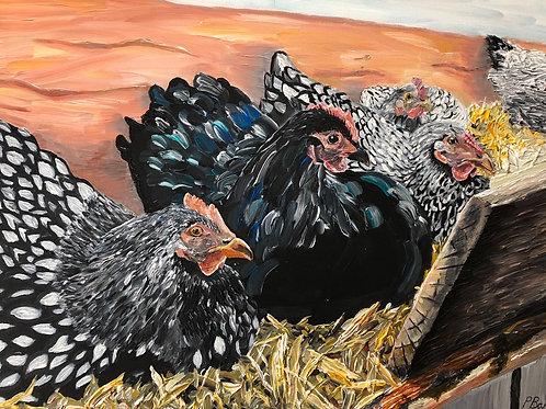 'Eggcellent Layers' (print)