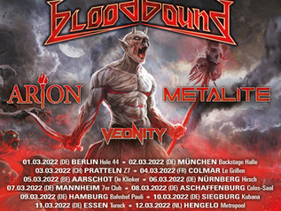 Tour with Bloodbound, Arion and Metalite