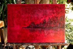 Skyline in Rot