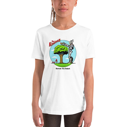Roman the Robot Lends a Hand - Full Color Youth Short Sleeve T-Shirt