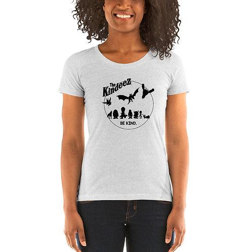 The Kindeez Group Silhouette - Black Line Ladies' Short Sleeve T-Shirt