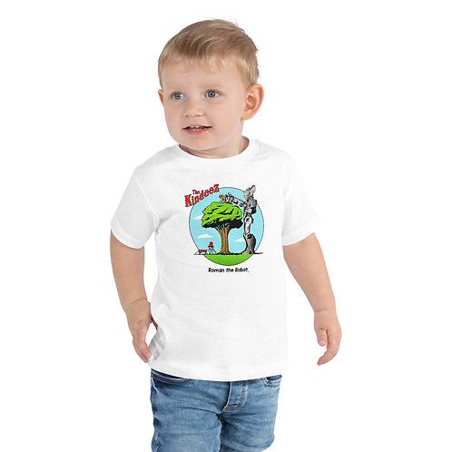 Roman the Robot Lends a Hand - Full Color Toddler Short Sleeve Tee
