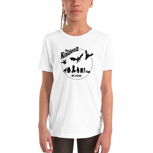 The Kindeez Group Silhouette - Black Line Youth Short Sleeve T-Shirt
