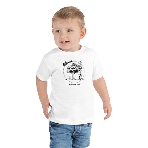 Roman the Robot Lends a Hand - Black Line Toddler Short Sleeve Tee