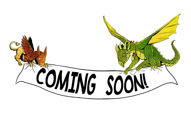 Gus the Griffin and Deegan the Dragon banner
