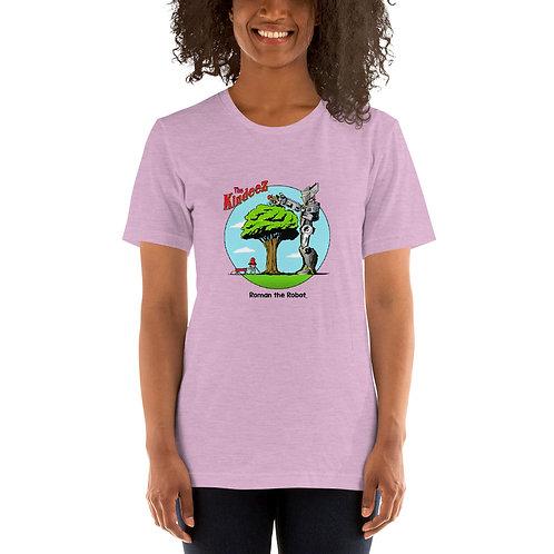 Roman the Robot Lends a Hand - Full Color Short-Sleeve Unisex T-Shirt