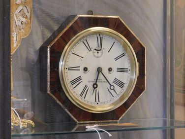 Swiss Rosewood octagonal wall clock