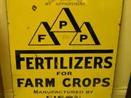 FPP fertilizers for farm crops metal sign