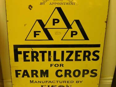 FPP fertilizers for farm crops metal sign