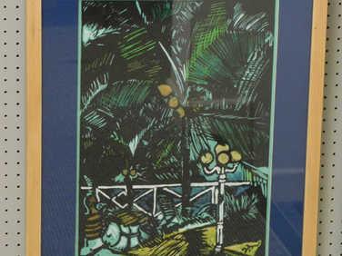 Lino Caribbean poolside by Sara Newman