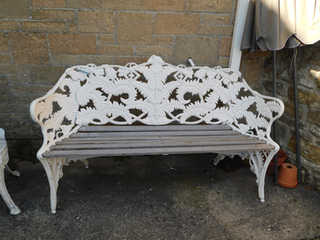 Fern bench in style of Coalbrookdale
