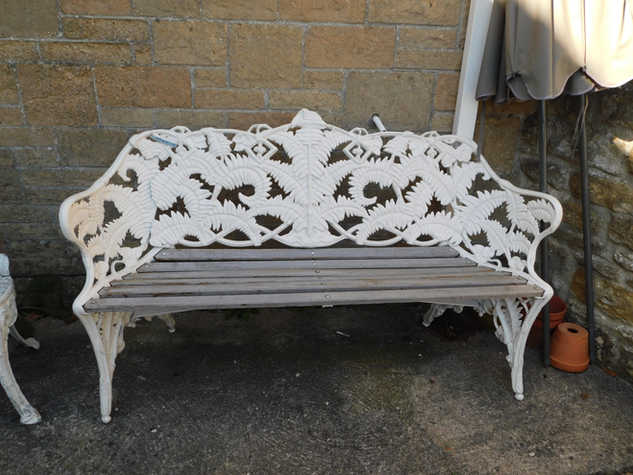 Fern bench in style of Coalbrookdale