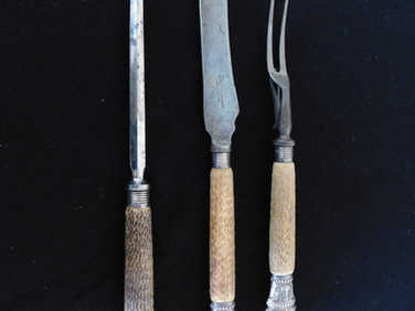 Silver carving set by Harrison & Howson
