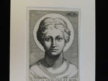 1599 engraving of St Lucy