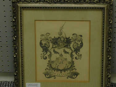Pencil drawing of a coat of arms
