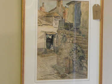 Watercolour of Cornwall by Edith Harms