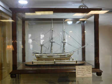 Napoleonic model of ship